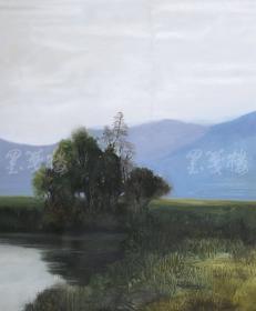 著名油畫家、銀川市美協會員  胡斌 2015布面油畫作品《艾依河畔》一幅(尺寸:59*50cm;作品由《中國美術市場報》直接得自于藝術家本人)HXTX111473