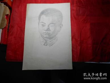 著名画家顾祝君 早期写生:《少年有志》