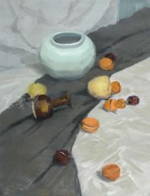 """著名油畫家、吳忠市美協會員  耿興磊 布面油畫作品""""靜物""""一幅(尺寸:66*50cm;作品由《中國美術市場報》直接得自于藝術家本人)HXTX111474"""