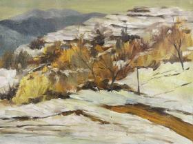 著名油畫家、中國書畫世界行理事  薛福利 布面油畫作品《冬日》一幅(尺寸:45*60cm;作品由《中國美術市場報》直接得自于藝術家本人)HXTX111475
