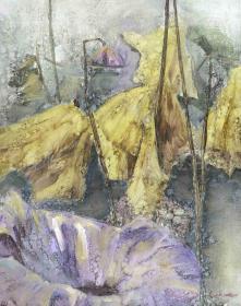著名油畫家 張春林 布面油畫作品《荷》一幅(尺寸:69*54cm;作品由《中國美術市場報》直接得自于藝術家本人)HXTX111476