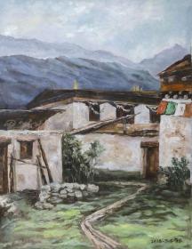 高級室內設計師 高峰 2018年布面油畫作品《甘孜稻城》一幅(尺寸:79*60cm;作品由《中國美術市場報》直接得自于藝術家本人)HXTX111477