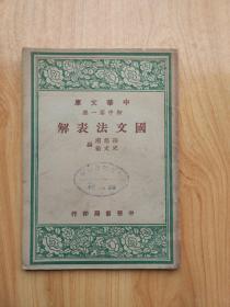 中华文库 初中第一集 图文法表解
