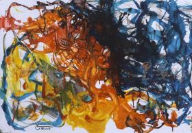 """著名油畫家 俞果 2018年水粉畫作品""""色彩""""一幅(尺寸:76*53cm;作品由《中國美術市場報》直接得自于藝術家本人)HXTX111480"""