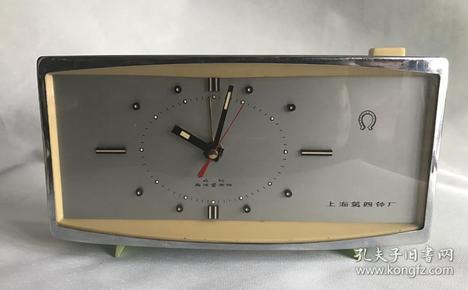 二手老式电闹钟上海第四钟厂出电子闹钟老物件收藏