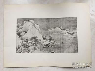 民国珂罗版画一幅 38x27.5cm