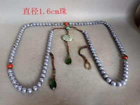 乡下收的清代一串珍珠朝珠