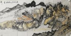 袁延佩,1963年11月生,山东人,著名画家龙瑞入室弟子。山水画家,现居北京,为中国美术家协会会员,山东美术家协会会员。1984年毕业于菏泽师范学院美术系,曾研修于中国艺术研究院美研所高研班。中国画研究院院处画家。中国历史博物馆画廊客座教授等。