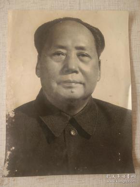 毛主席 照片    ,约大 16开