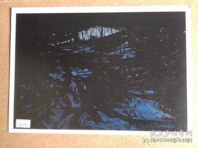 水粉画参赛作品签名照片 《月光之下》作者:郑荣涛