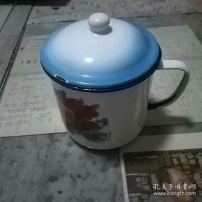 龙门牌老搪瓷茶缸收藏