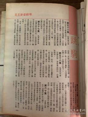 电视剧《跳驹》剧集介绍 彩页 32开 1张1面