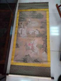 传世少见的一幅名人手绘人物风景老画