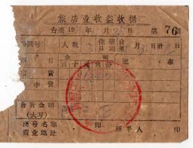 收据借条类-----1961年黑龙江省木兰县