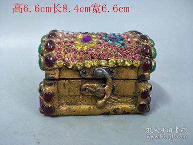清代传世镶嵌宝石舍利佛盒