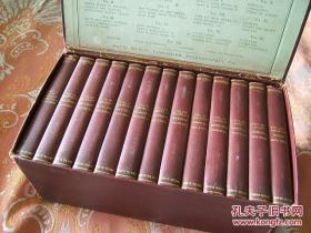 Complete Works of William Shakespeare , illustrated with steel engravings 莎士比亚全集 精装13册盒装 雕刻版插图 顶端刷金