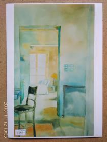 水粉画参展作品签名照片 《觅》之二  作者:杨得聆 (中国美术家协会会员,第二、第三届广东青年画院画家)