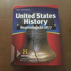 united states history beginnings to 1877(16开精装英文原版)