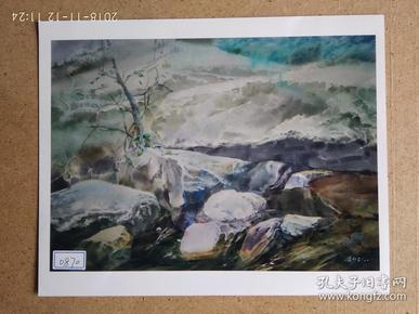 水粉画参赛作品签名照片 《角落 对岸》作者:梁少剑 (湖南郴州市美术家协会会员)