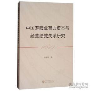 中国寿险业智力资本与经管绩效关系研究