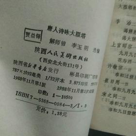 唐人诗咏大雁塔