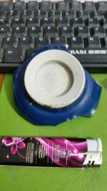 霁蓝釉碗底