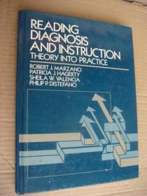 Reading Diagnosis and instruction Theory into Practice 《阅读诊断和指导-理论到实践] 英文原版 精装大16开