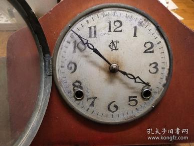民国时期――上海中南钟厂出品 座钟  完全国货标准时钟
