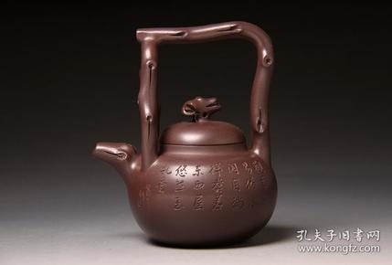 【正品保证】宜兴紫砂壶名家国工艺美术师全手工功夫东坡提梁壶