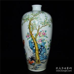 清雍正粉彩雄鹰纹梅瓶26LY