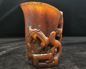 犀牛角杯,重量778g代理转图可以加价,运费自理。