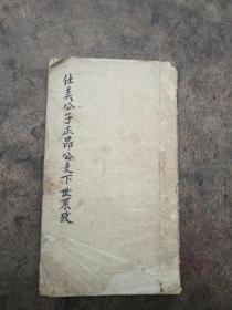 手抄本,民国手抄家谱,仕美公子正昂公支下世系考。