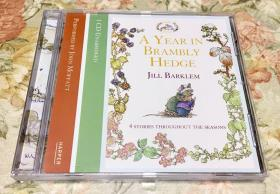 (Audiobook) A Year in Brambly Hedge: 4 Stories Throughout the Seasons (1 CD Unabridged; Performed  by John Moffatt) 野蔷薇村的故事 英文有声读物/有声书 CD 四季故事 未删减版