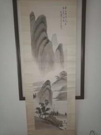 海派畫家 朱梅邨山水畫