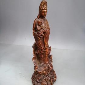黄杨木雕观音送子