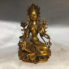 鎏金西藏佛铜佛宗教用品送人礼品影视道具现代工艺品