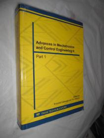 Advances in Mechatronics and Control Engineering II part 1 英文原版