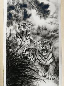 著名画家柴祖舜签名绘画作品照片出版社原底稿
