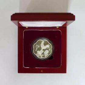 中国金币1993年生肖鸡年梅花形银币纪念币 2/3盎司银币