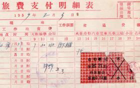 新中国火车票----世界里程最长森林窄轨铁路--1959年通河森林铁路