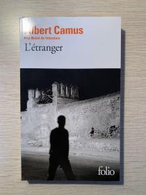 L'etranger  prix Nobel de litterature 法文原版 局外人