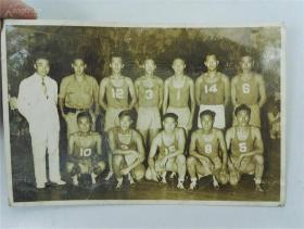 民国体育题材,北京振亚排球队 合影照片
