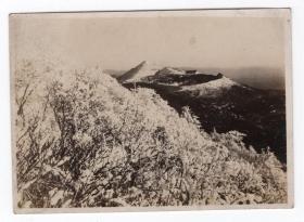 民国报纸图片类----民国原版老照片1930年前后时间,日本雾岛县高千惠远峰