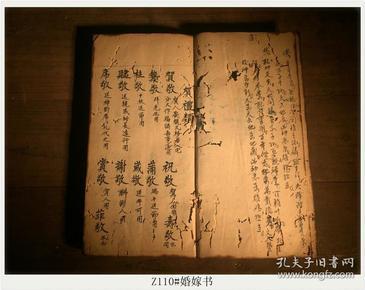 Z110#婚嫁书 各种婚嫁礼仪 古籍善本 线装手抄本