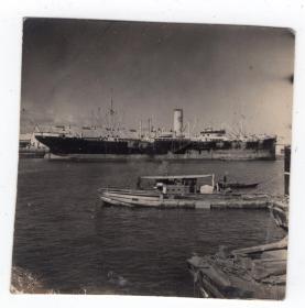 民国报纸图片类----民国原版老照片1930年前后时间,日本国内港口码头