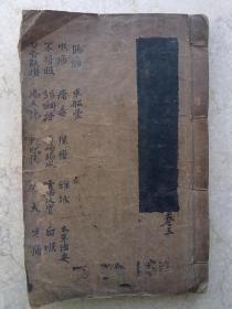 中医手抄本         药方        验方            一厚册     书法不凡