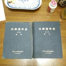 内弹道学表,第一册,第二册