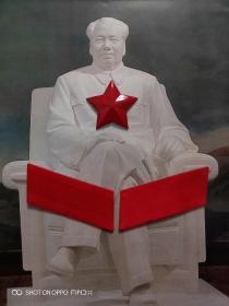 中国人民解放军65式红五星帽徽、红领章一套