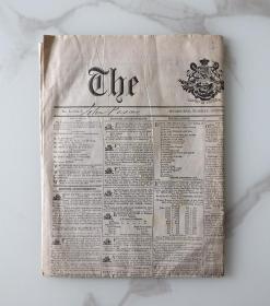 外文报纸1854年10月17日THE AGE 《时代》报澳大利亚墨尔本发行主导报纸目前仍在发行234#
