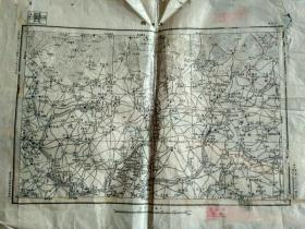 """民国十六年参谋本部陆地测量部制版河北""""玉田县""""地图,54*39厘米,品相以图为准"""
